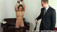 Beautiful college girl spanked.