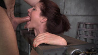 Cici Rhodes Tightly Bound in Stocks on Sybian