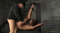 Skinny 19 year old newbie Kendra Cole belt down, chained roughly fucked big cock! (2014)