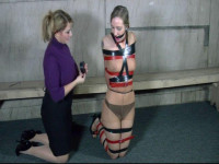 This is the portion of the clip that she is wearing a ballgag and strapped