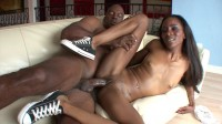 Hot ebony girl adores chocolate cocks
