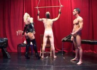 The young aspirant to the throne dominatrix with a hard spanking