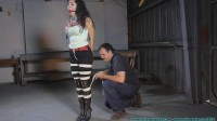Ellen Hogtied in Black Jeans and Boots - Part 1