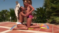 Very hot lesbian action outdoors