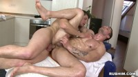 Bareback Oiled Ass , first time gay threesome.