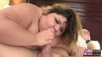 Teen BBW cutie meets her lover in a seedy hotel room