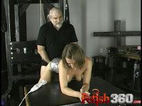 Slave Joleen Wrapped Clamped Throated