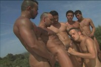 Hard Latin Men In Outdoor Orgy