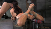English Rose Ava Dalush Bound Down On Fucking Machine, Brutal Drooling Deepthroat
