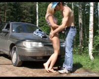 Download Hot amateur sex Russian couple in the woods