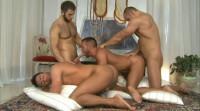 Brutal males in orgy