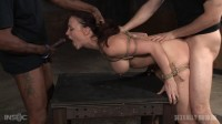 Lush brunette Chanel Preston tightly tied in rope and roughly fucked, worked over by big dick!