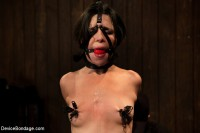 Pretty gets punished - double penetration and made to squirt into exhaustion