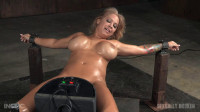 Alyssa Lynn Restrained On A Sybian And Facefucked By BBC