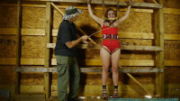 CrotchRope - Barnyard Captive Riley Jane Spreadeagle to the Wall - Part 1
