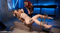 The Lesbian Electro Initiation of an Athletic Slut!