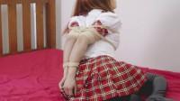 Restricted Senses – Red Schoolgirl Uniform