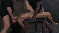 Amazing MILF with Booming body, gets her first hardcore bondage threeway! Lactating Nipples!