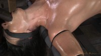 Wenona strictly restrained and does epic brutal drooling deepthroat on BBC