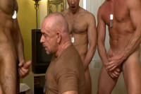 Military Gangbang With Muscle Men