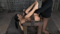 Katrina Jade fucked hard by two dicks while in strict device bondage, creampied! (2014)