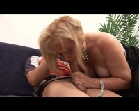 Zealous MILF fucked on couch
