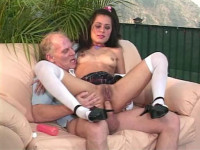 After fondling the clitoris my elderly lover piss