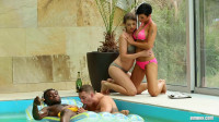 Passionate bisexual orgy in the pool