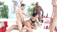 Monica Santiago picked up in the street for rough anal fucking with DP & DVP