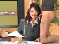 Asian TV presenter received a dick in her mouth