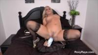 Cute blonde big anal dildo