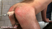 Guy8-l - Arse screwed by a fuck machine, spanked, boot worship