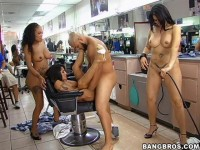 "Olivia O'Lovely, Jenaveve Jolie & Lacey Duvalle in ""Barbershop Orgy"""