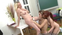 Gloria and her sexy friend are brought into the classroom and look very pretty