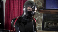 Hard bondage and hogtie for hot girl in latex clothes