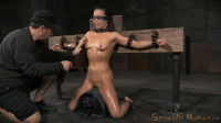 Natural born sexbot Kalina Ryu throatboarded into drooling deepthroat, massive sybian orgasms!