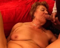 Two cocks for granny