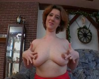 Sexy redhead amazed