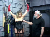 She Is Tied Up With A Tight Crotch Rope To Make Her Pussy Sore