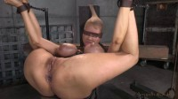 Huge Beasted Rain DeGrey Restrained In Strict Bondage
