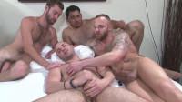 Anal foursome! (mirror, amazing, sucking, anal sex)
