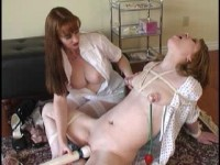 Hot bitches in lesbian BDSM sex in bondage video 21