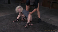 SexuallyBroken - Aug 31, 2015 - Pale blonde Cherry Torn chained down and trained by BBC