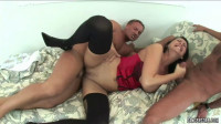 Bitch With Corset And Stockings Gets Double Fucked (1080)