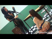 Femdom rubber and latex doll 50 video