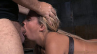 Pretty blonde Madelyn Monroe bound face down