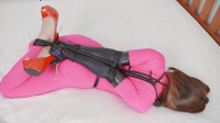 Pink Catsuit & Black Rope