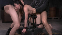 Girl next door Amy Faye bent over bound doggystyle vibrated to orgasm (2015)