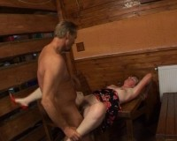 Getting wet in a sauna