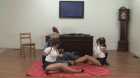 Tight bondage and hogtie for two sexy models